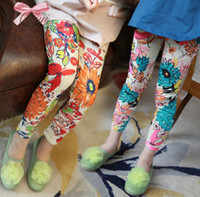 Wholesale pc fashion Floral Print Girl Leggings legging Girl Big Flower Leggings Pants