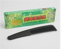 Cheap Wholesale-2015 Real Sale Black 3pcs Tourmaline Health Comb Negative Ion Far Infrared Magnetic Therapy Gift Macrobian of The Meridian