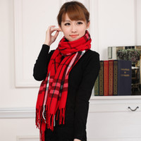 designer wool scarves - new designer scarf of cotton autumn and winter cashmere wool scarf tassel plaid fall fashion for women scarves stoles pashminas