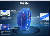Wholesale 40pcs New Digital LED Touch Sports Silicone Bracelet Waterproof Wrist Watch Electronic Watches Rubber RL565