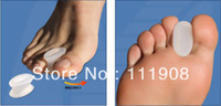 silicone foot products - OPP BAG PACK silicone toes Orthotic pad as Toes separated cushion unisex toe mat for beauty foot care product