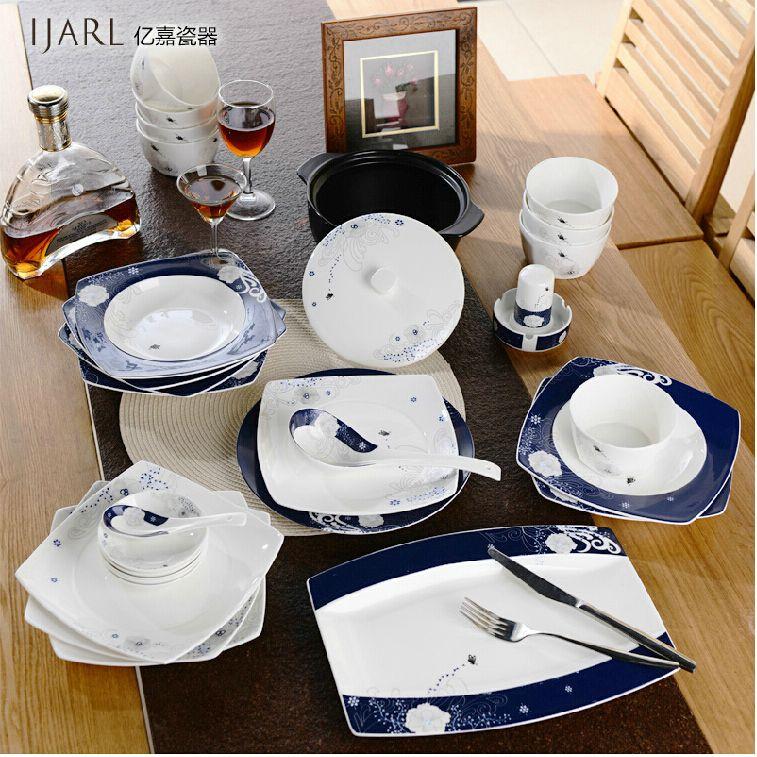 Beautiful Dinnerware Sets Yijia Japanese European Cute Korean Dishes Bowl Dish Dishes  56 Head Bone Ceramics Tableware Set Dinnerware Sets Dinnerware Sets  Dinnerware ...