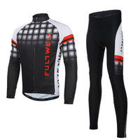 Wholesale New Men Outdoor Sport Cycling Clothing Set Sportswear Road Bicycle Bike Long Sleeve Jersey Bib Pants Breathable H14352