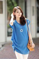 Cheap O-Neck Short Sleeve Beading Casual Tops Best blouse shirt