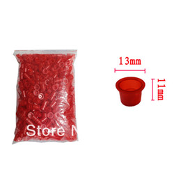 Wholesale Tattoo Ink Cups Plastic Caps Small Size mm Red Color for Needle Ink