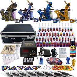Wholesale Complete Tattoo Kit Pro Rotary Machine Guns Inks Power Supply Needle Grips TK453