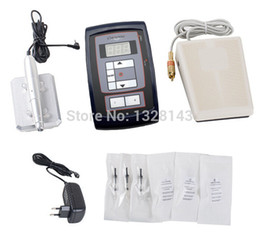 Wholesale Professional Permanent Eyebrow Makeup Machine Rotary Tattoo Machine Kit with Pedal PcsNeedles LCD Power Supply