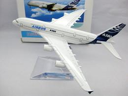 Máquina cepilladora en Línea-Los nuevos modelos A380 Airbus del aeroplano de Wholesale-2015, las líneas aéreas del metal de la alta calidad del 16cm venden al por mayor, máquina del prototipo de Airbus