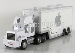 Wholesale-Free Shipping Pixar cars 2 Apple white Hauler Mack truck cars Diecast Metal Toys model