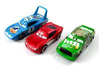 diecast toy - Set Pixar Cars The King Chick Hicks Mcque Diecast Metal Kids Toy