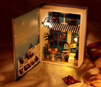 Wholesale New Aririve Christmas Gift Diy Doll House Miniature Model Building Kits Wooden Miniature Handwode D Dollhouse Toy Birthday Gift