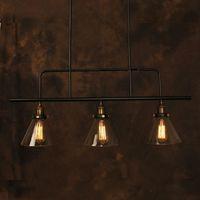 Wholesale Vintage Pendant Light Industrial Edison Lamp American Style Clear Glass E27 RH Loft Coffee Bar Restaurant Kitchen Lights