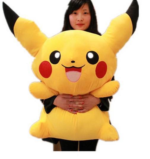 Wholesale-Free Shipping Hot Selling 45cm size Lovely Pikachu Plush Soft Doll Pokemon Plush Toys Christmas gift