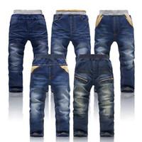designer casual jeans - Retail NEW Spring amp Autumn designer children Jeans fashion kids jeans Boys elastic waist jeans baby casual denim pants