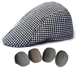Wholesale vintage plaid woolen warm hat casual beret cap boina gorro not snapback caps hats for men or women skullies touca colors