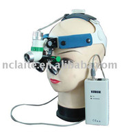 Cheap Wholesale-LED headlamp 3w 7hrs with NEW Type Surgical loupes 2.5X FREE SHIPPING