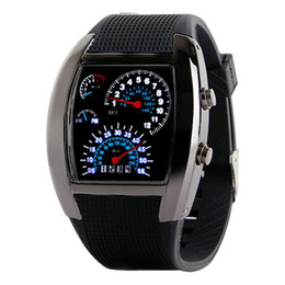 Wholesale amp Digital Aviation Clock Turbo Dial Flash LED Watches Men s Watch Lady Sports Car Meter Wristwatch