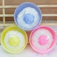 baby powder puff case - Hot Sale Baby Beauty Multicolor Cosmetic Villus Powder Puff Sponge Case Makeup Tool RQ
