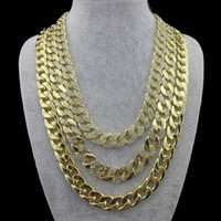 hip hop chain - mm quot Gold Silver Mens Miami Cuban Link Chain Iced Out Hip Hop CZ Necklace