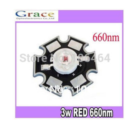 Wholesale W Deep Red High Power NM Plant Grow LED Bead Emitter With mm star Base for Cabinet Tank Aquarium