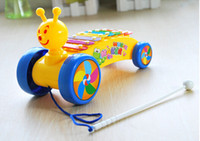 Wholesale Music Toys Drag Snail Tones Hand Knock Piano Colorful Piano Baby Kids GGHHWJ046