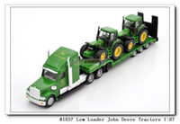 Wholesale Siku flatbed trailer truck Low Loader With John Deere Tractors alloy car model toy