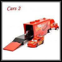 Wholesale Set Brand New Pixar cars Diecast metal Toys Mack Hauler Truck Lightning Mack cars Xmas Gift