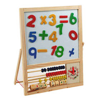 Wholesale Baby learning Sketchpad wooden magnetic drawing board Kids early learning educational toys children calculate toys ZWZ152