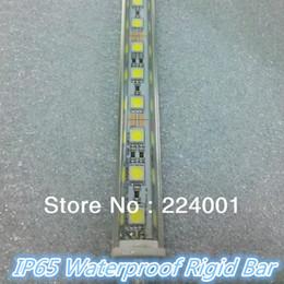 Gros-6pcs un lot 36 SMD5050 0,5M IP65 époxy étanche LED bande rigide blanc Light Bar avec coque en aluminium + connecteurs mâles et femelles à partir de époxy aluminium fabricateur