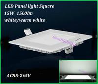 acquarium lights - AC85 V Square led ceiling light W lm white warm white acquarium led panel light