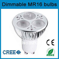 Wholesale x LED Gu10 x3w w dimmable LED Light CREE High power Bulb downlight Spot Lamp V or V