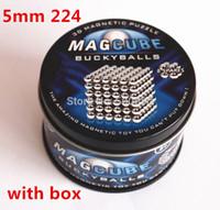 Оптовая продажа-бесплатная доставка 2015 году новый магет игрушка buckyball neocube magetic куб 224*5мм/набор