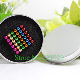 Wholesale-Free shipping 6x6x6 neocube   216 pcs 5mm magnetic balls buckyballs magic cube magnets puzzle at metal tin box