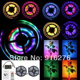 Promotion couleur de rêve magique Gros-2 x 5m 10m 1903 IC 5050 RGB LED Strip Chasing Magic Dream couleur étanche IP67 + 253 change télécommande RF