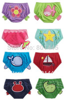 Wholesale Kids apparel baby boy girl Swim trunks cute animal design colorful for Y drop shipping