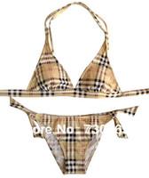 Wholesale Blue UK Brit Plaid Bikini for Womens Brand Khaki Swimsuits Hot Girls Swimwear Best Quality Bikinis Drop shipping