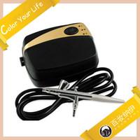 mini make up kit - Portable Make Up Airbrush System Mini Air Compressor Speed Air Brush Kit