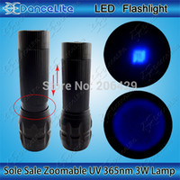 Cheap Wholesale-Creative ~ New Zoomable C30 UV 365nm Lamp UltraViolet 365 3W 1M UV LED Flashlight Torch