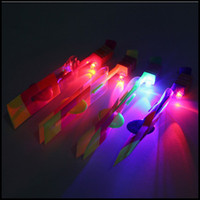 Wholesale LED Flash Arrow Rocket Amazing Arrow Helicopter Kid s Luminous Toy Led Flying Toy Gift