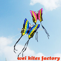 Wholesale high quality butterfly lovers nylon ripstop fabric with handle line couples easy control wei kites