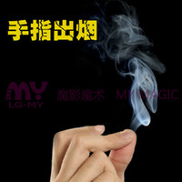 Cheap Wholesale-1PC NEW Magic Thumb Tip Trick Rubber Close Up Appearing Finger Trick Props Toy Funny Prank Party Free The smoke