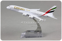Wholesale cm Emirates Plane Model Airbus A380 A6 EDB Airlines Alloy Airplane Model Kids Toy Gift Collections