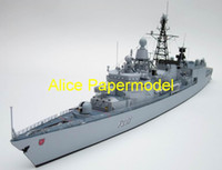 5-7 Years alice german - Alice papermodel Long CM German Wehrmacht Missile Frigate destoryer guided missile cruiser warship models