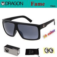Wholesale Popular Elements New Dragon Sunglasses FAME Model Fashion Coating Sport Glasses Men oculos de sol with Original Brand Box