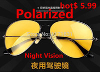 Wholesale Promotions Night Vision Sunglasses Polarized Men Women Sun Glasses Metal Driving Eyewear Driver Eyeglasses For Male Driver