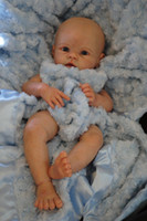 "Cheap Wholesale-Reborn Baby doll kit Silicone Vinyl head 3 4 arms full legs for 20-22"" baby dolls lifelike dolls parts SAME AS KRISTA"