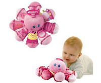Wholesale Infant baby toys educational early learning octopus animal rings bell Learning amp Education Plush toy USA Baby Rattles amp