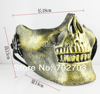 Wholesale Halloween Cool Paintball Hunting Game Airsoft Skull Skeleton Mask Full Half Face