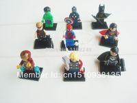 Wholesale Classic Toy sSuper Heroes Avengers Captain Thor Iron Man Hulk Superman Spider man Zod Batman hawkeye Plastic Building block toys