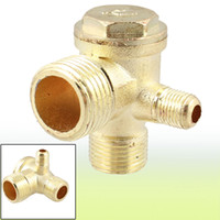 air compressor check valve - 2 Inch Inch PT Inch PT Male Thread Way Metal Air Compressor Check Valve Gold Tone